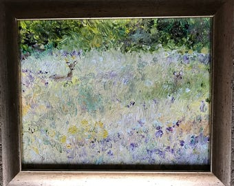 Deer Field - 10x12 Original acrylic