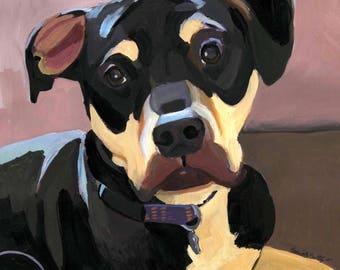 "Custom Pet Portrait, Simple Background 11""x14"""