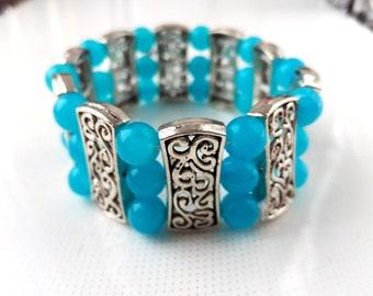 A wide stretch bracelet,a metal bracelet,gift for mother's day,fashionable bracelet, an unusual bracelet,bracelet beautiful,silver bracelet