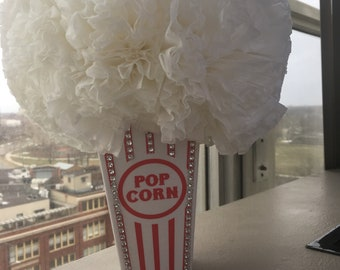 Popcorn carnival themed center piece
