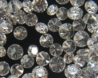 1MM to 2MM 100% Natural Diamonds 25 Pcs. Round Loose Gemstone G-H Color VS Clarity