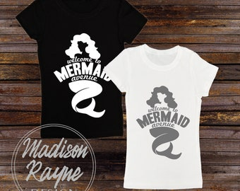 Mermaid Avenue Tshirt, Nautical Tshirt, Nautical Clothing, Unisex Tshirt, Womens shirt, Mens Shirt, Gift, Mermaid Clothing