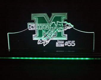 Dual Pane Edge Lit Acrylic Sign - McIntosh
