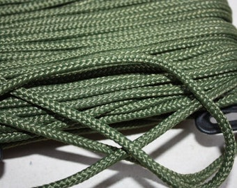 4 mm Braided Cord POLYESTER = 1 Spool= 27 Yards= 25 Meters Elegant Rope Olive Green Decorative Rope Macrame Rope Macrame Cord Polyester Yarn