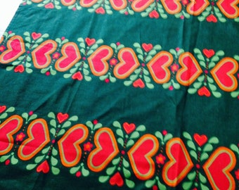 RETRO - Swedish Fabric from 1970's / Tablecloth / Vintage