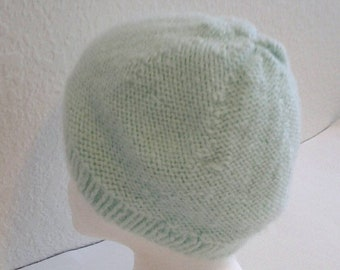Woman's Knit Mint Green Hat
