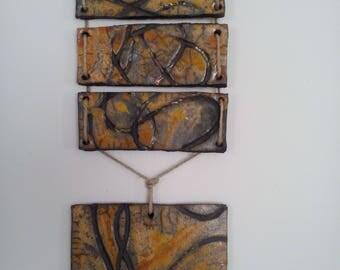 picture in raku ceramic