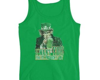I Want You For Saint Patricks Day Ladies' Tank Top, Patricks day tank top