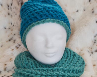 Scarf and cap for cold winter days