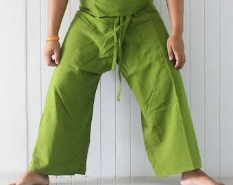 Thai fisherman pants 100% cotton,longer western size,wrap throusers yoga