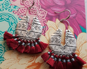 Silver Tassel Earrings
