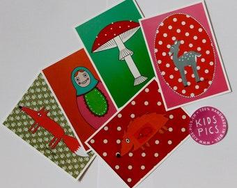 "Postcardset ""Forest Animals"""