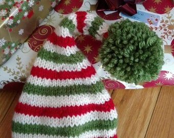 Hand knitted Elf hat