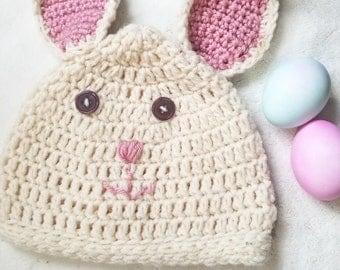 Bouncing bunny crochet hat