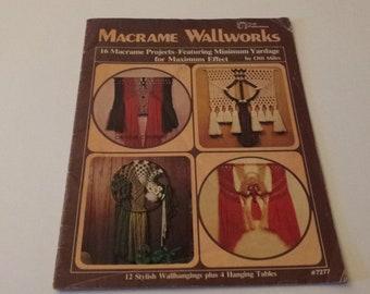 Macrame Wallworks Designs by Otti Miles Vintage 1978