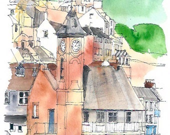 Kingsand Clock Tower from Cawsand Cornwall