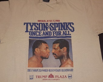 1988 rare vintage Mike Tyson vs Michael Spinks boxing t-shirt heavyweight