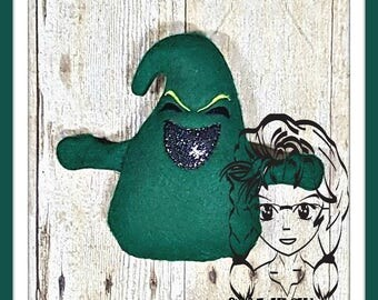 BooGIEMAN GrEEN Character Inspired 3D Plush Toy ~ In the Hoop ~ Downloadable DiGiTaL Machine Embroidery Design by Carrie
