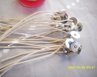 candle wicks,zinc 62 52 18 core wicks,25 pack,candle making supplies,candles,craft supplies