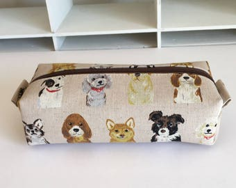 Long box pouch - Love dogs