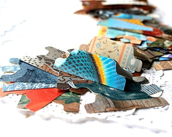 Paper Embellishment Pack, Scrapbooking Supply, 50 Paper Pieces, All Occasion, Junk Journal Pack, Smash Book, File Folder Tabs