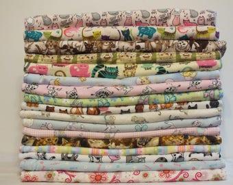 Fleece & Flannel Kitty Mat Bed - Pet Mat Bed, 17 Different Flannel Prints