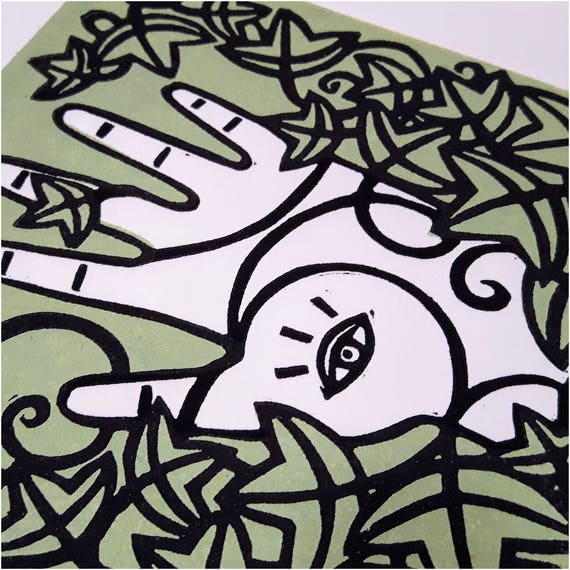 Divination - Linoleum Print