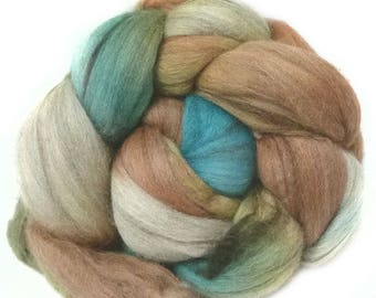 YAK SILK SUPERFINE MERINo roving top handdyed spinning fibre 3.4 oz