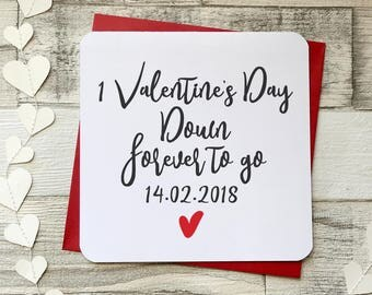 Personalised Valentine Card, Love Card, Paper Card, Script Card, Husband  Valentine,