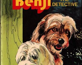 Joe Camp's Benji the Detective + Jean Lewis + Werner Willis + 1978 + Vintage Kids Book