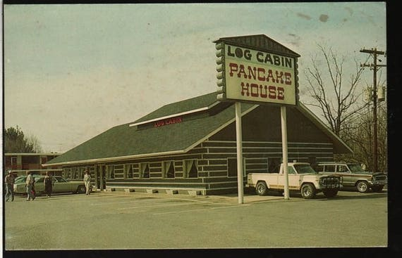 Log Cabin Pancake House - Pigeon Forge, Tennessee -  Vintage Souvenir Photo Postcard
