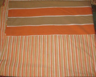 Vintage Flat Sheet, Full Size, Double Bed Sheet, Designed by Vera Neumann Poly Cotton, Burlington 1970s Retro Bed Linens Fabric, Bedding