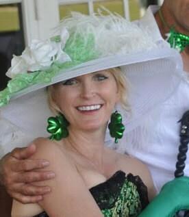 Edwardian Hat - Green Apple Crystal Fairy