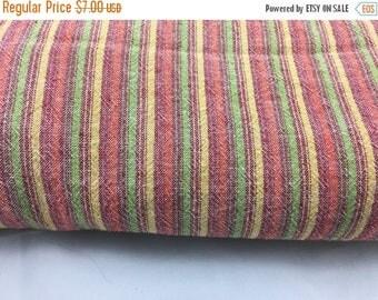 40% OFF- Striped Seersucker Fabric-Cotton Blend-Candy Stripes
