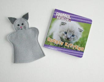 Cat Puppet and Book Set, Kitten Puppet