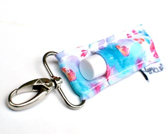 LippyClip® Lip Balm Holder for Chapstick, Burt's Bees, etc. |  Clip-On Keychain | Watercolor Floral