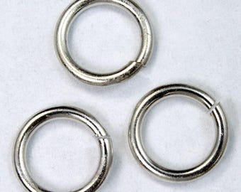 10mm Silver 13 Gauge Jump Ring #RJB044