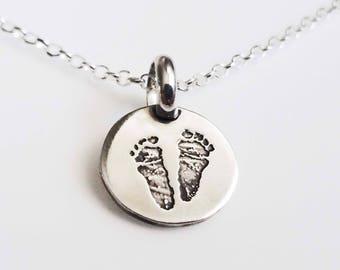 Fingerprint Footprint Necklace