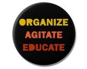 "Susan B Anthony Quote 1.25"" or 2.25"" Pinback Pin Button Badge Organize Agitate Educate Anti Trump Nasty Woman Feminist"