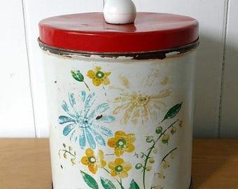LOVE SALE vintage flower canister Colorware
