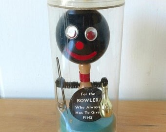 30% OFF SALE vintage bowling pin kitsch