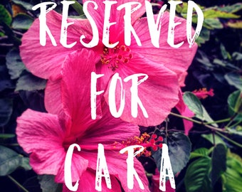 RESERVED FOR CARA