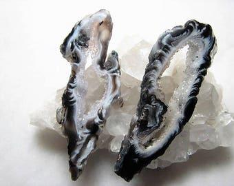 Black and White, Geode Slice Pair