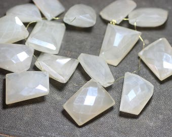 Moonstone Beads Faceted Moonstone Briolettes Step Cut Pyramid Peach Moonstone Beads
