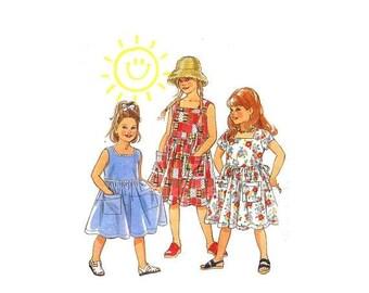 SALE Girls Dress New Look 6369 Sewing Pattern Size 3 - 4 - 5 - 6 - 7 - 8 UNCUT