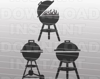 BBQ Grills SVG File Cutting Template - Clip Art for Commercial and Personal Use - vector art file for Cricut, SCAL, Cameo, Sizzix, Pazzles