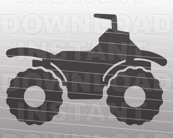 ATV SVG File,Quad SVG,4 Wheeler svg,Vehicle svg-Cutting Template-Vector Clip Art for Commercial & Personal Use-Cricut,Cameo,Silhouette,Vinyl