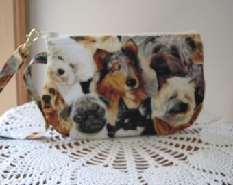Small Camera bag Essential Oil Bag Wristlet Zipper Gadget Clutch  Purse Pouch in Beautiful Dogs