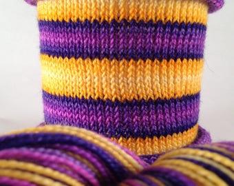 Parties Weren't Meant To Last: Hand-dyed gradient self-striping sock yarn, 80/20 SW merino nylon
