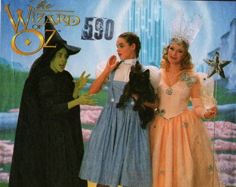 1997 Misses WIZARD Of OZ COSTUME Pattern Simplicity #7808 Size 6,8,10 Dorothy Wicked Witch Glinda The Good Witch Halloween Sewing